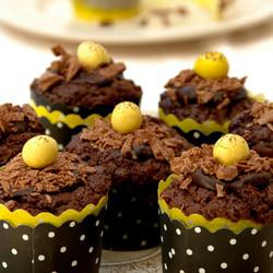 Mini chocolate mocha muffins