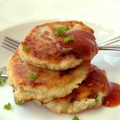 Ina paarman hake fish cakes for Fish cake recipe