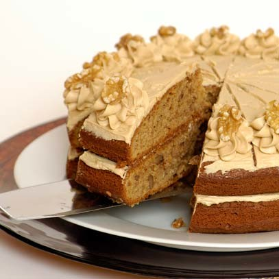 Ina Paarman | Coffee and Walnut Cake with Butter Icing