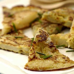 Spanish potato tortilla wedges