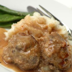 Swedish meatballs with brown gravy