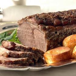 Roast beef with brown gravy