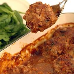 Mushroom meatballs with bbq sauce