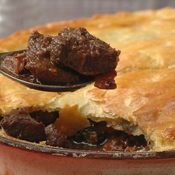 Venison pie with port and prunes 2