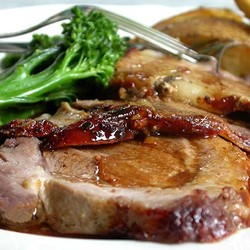 Roast leg of lamb with anchovy 2