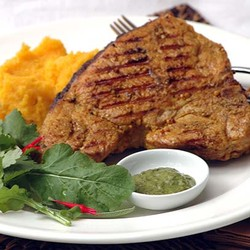 Prok chops with mixed mash