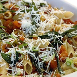 Penne with pan roasted butternut and sage