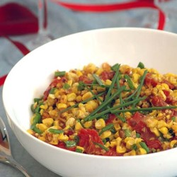 Grilled corn salad with watercress