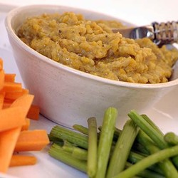Lentil and carrot pate
