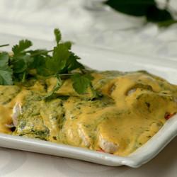 Creamy curry and coriander chicken