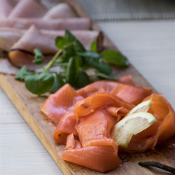Salmon and or ham platter