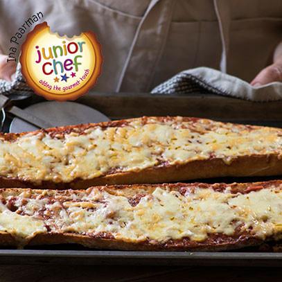 Jnr chef   crusty bread pizza