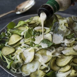 Pickled cucumber and onion salad