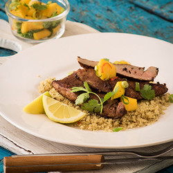 Butterflied pork fillet with mango salsa edited