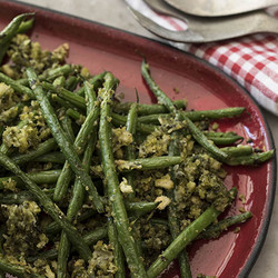 Parmesan crumbed green beans edited