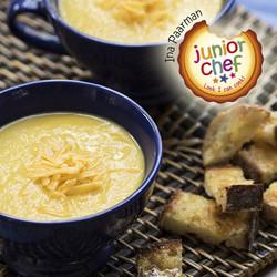 Junior chef   cauliflower cheese soup edited