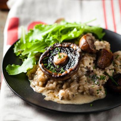 Super creamy mushroom risotto